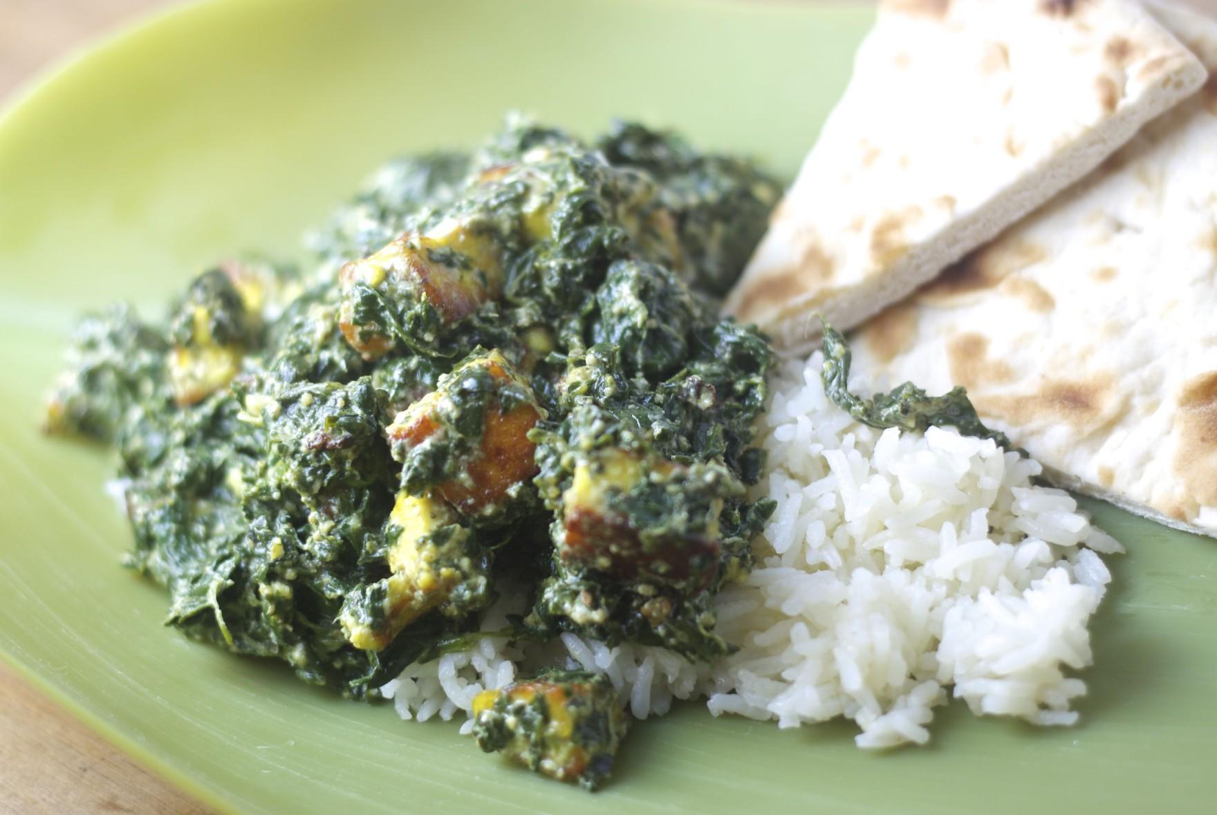 indian food, vegetarian, saag paneer, food, recipe, cooking, indian cooking