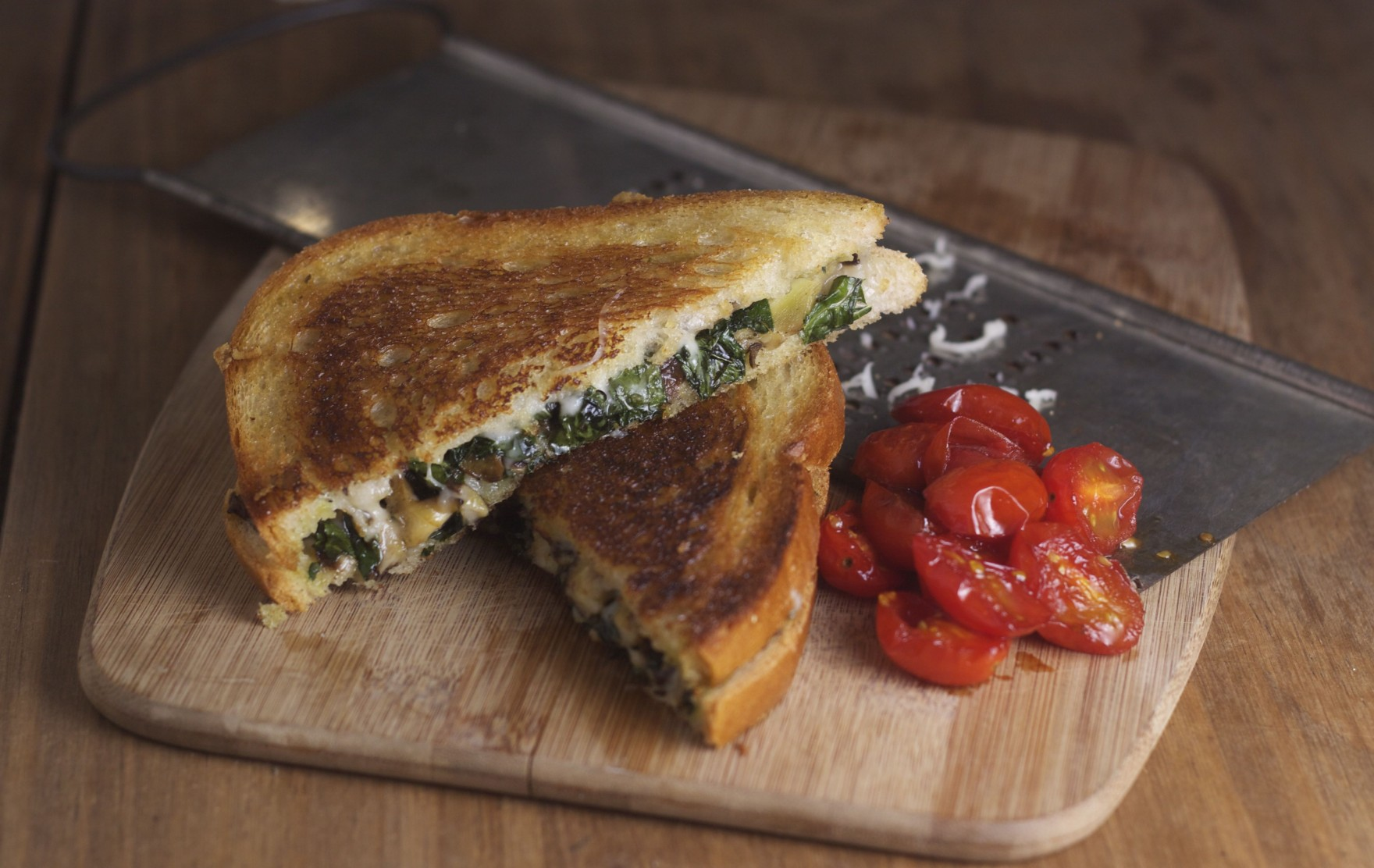 Shiitake and Kale Grilled Cheese by The Bored Vegetarian