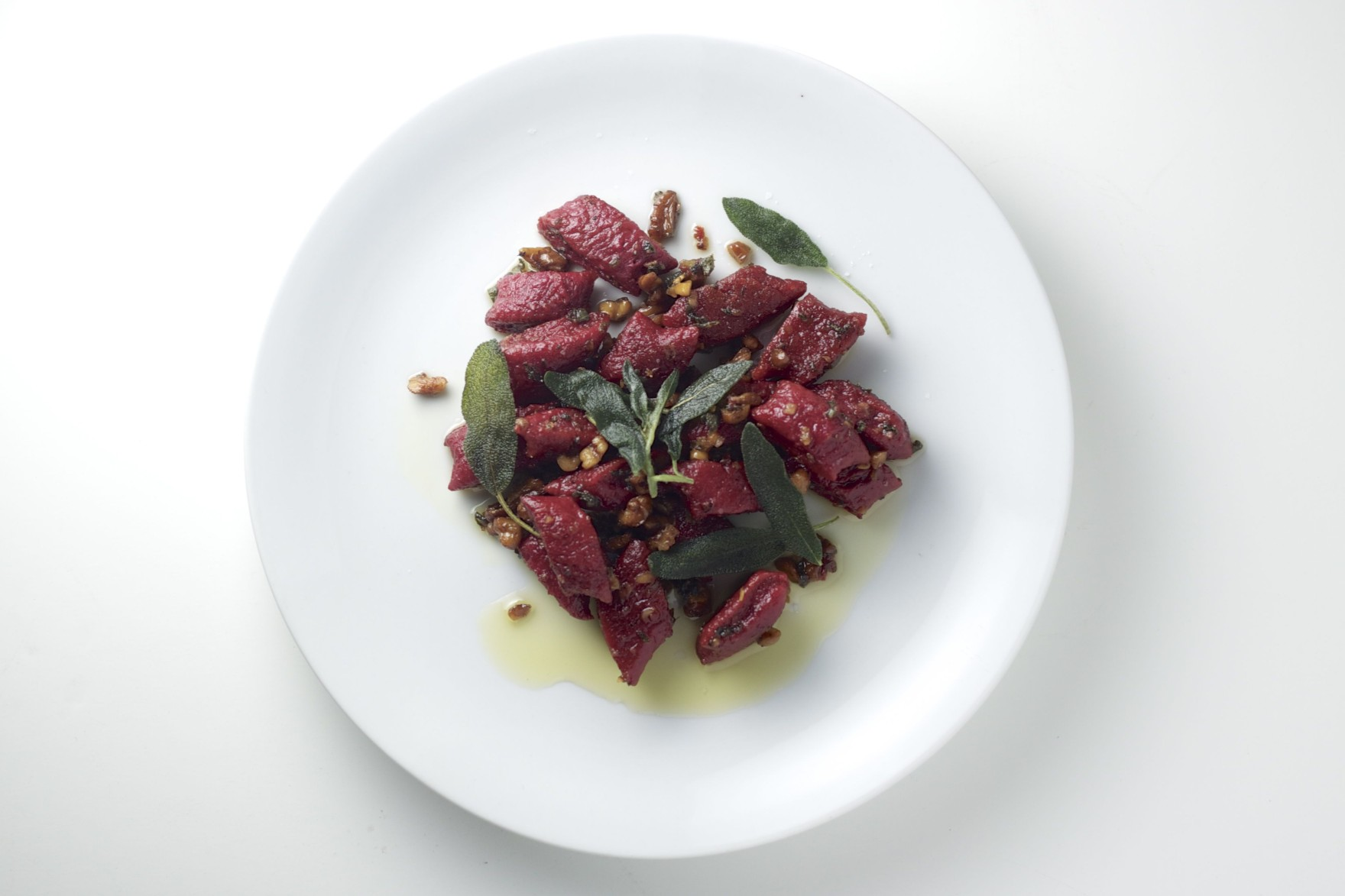 Red Beet Gnocchi with Sage Brown Butter Sauce and Walnuts The Bored Vegetarian
