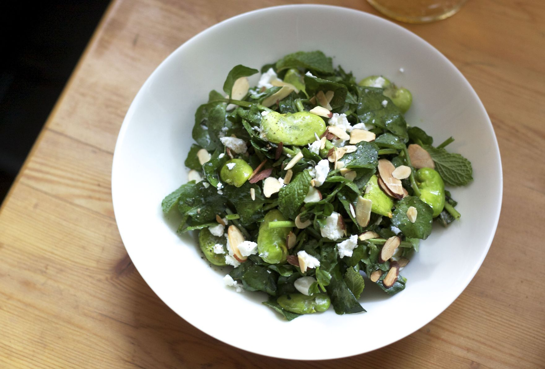 Watercress and Fave Bean Salad The Bored Vegetarian